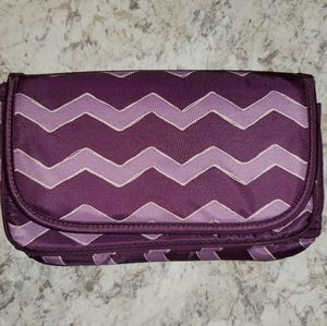 NEW Thirty-one tri-fold zig-zag cosmetic bag